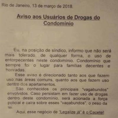 aviso do condominio