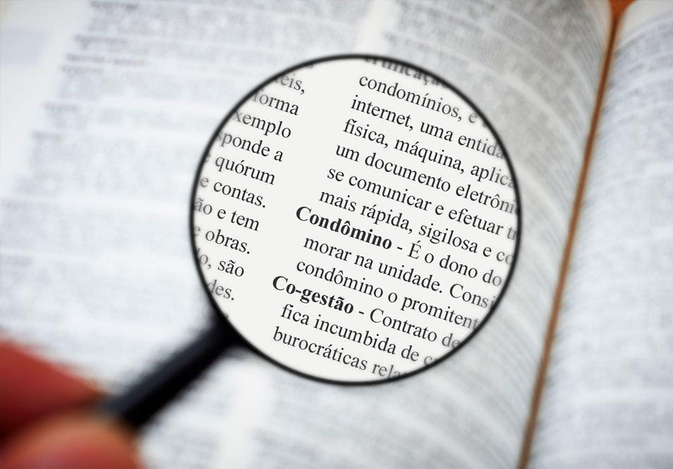 Saiba o que significam os termos usados no condomínio