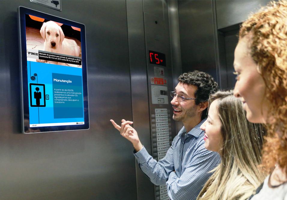 Condomínios residenciais agora podem contar com painéis de comunicados e notícias