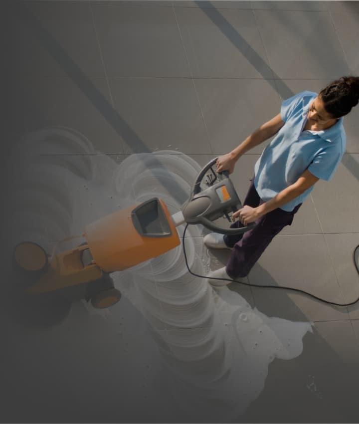 Foto de serviço de limpeza de pisos