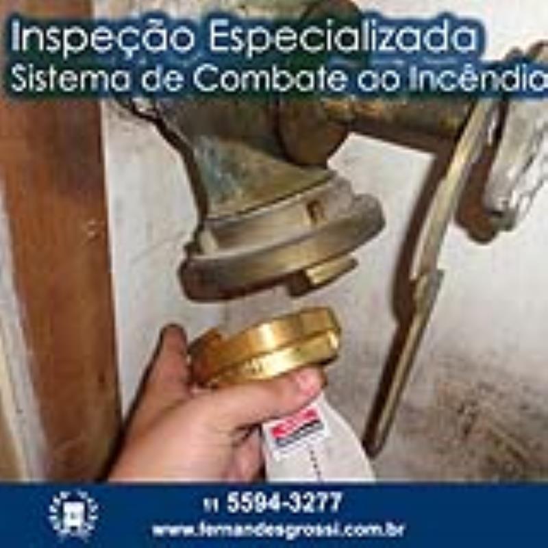 Foto - Inspeção Especializada de Sistema de Combate a Incêndio