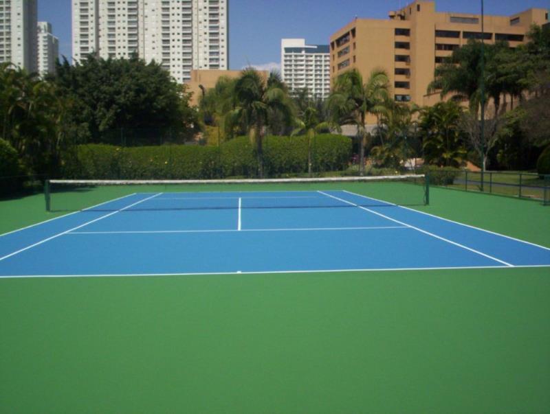 Foto - Quadra de tênis oficial