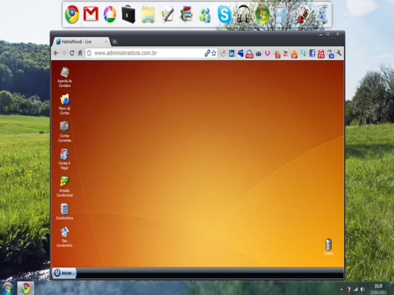 Foto - Liberdade para administrar condomínios de qualquer lugar, Você pode utilizar qualquer computador para acessar o software online de condomínios. Não tem instalação, basta utilizar qualquer navegador de internet ou browser. Roda em qualquer sistema operacional. Windows, Linux ou MAC. Baseado em tecnologia de cloud computing.