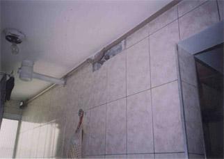 Foto - Prumada junto ao teto