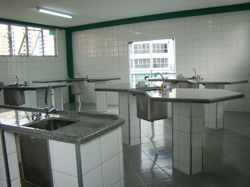 Foto - Construção do Laboratório de Química do Colégio COC de Santos