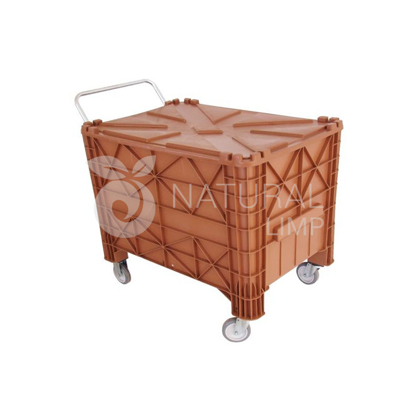 Foto - Contentor 350 litros carrinho de carga condominio plástico com rodas Natural Limp