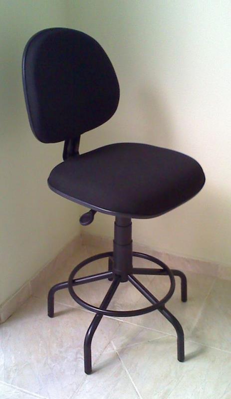 Foto - Cadeira de portaria, base aranha sem braço.