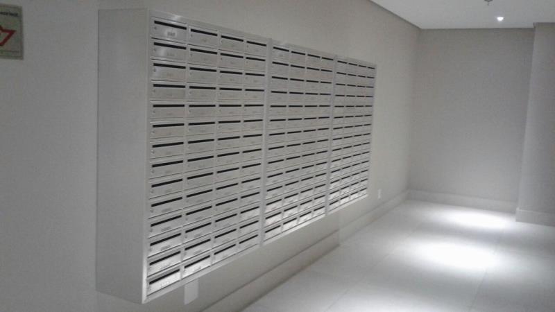Foto - Postal Box - caixas receptoras de correspondência, fabricadas em alumínio.