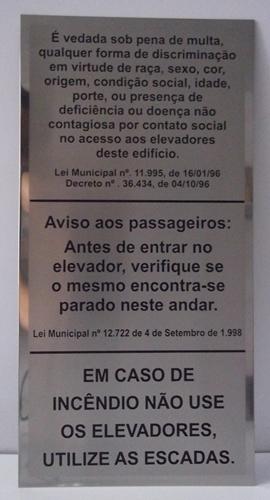Foto - Placa Aço inox