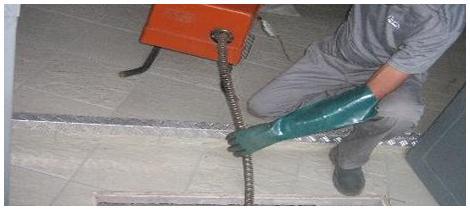 Foto - Desentupimento de instalações pluviais.