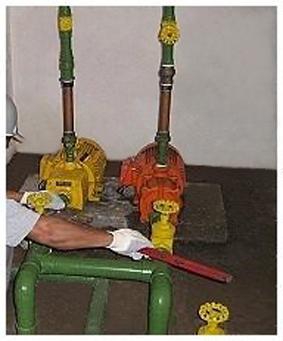 Foto - Substituição das instalações de recalque.