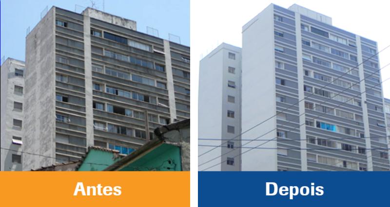 Foto - Antes e depois.