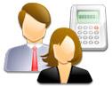 Logo da empresa mj telecomunicações, elétrica e informática