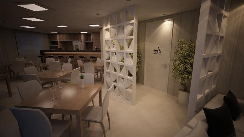 Foto - Condomínio Edifício Flamingo - Projeto de arquitetura - reforma salão de festas