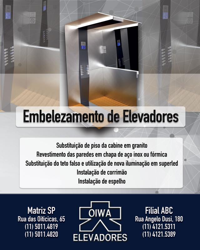 Foto - ELEVADORES OIWA - EMBELEZAMENTO DE CABINES
