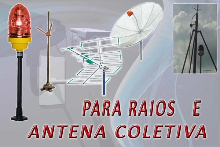 Foto - Antena e para raio