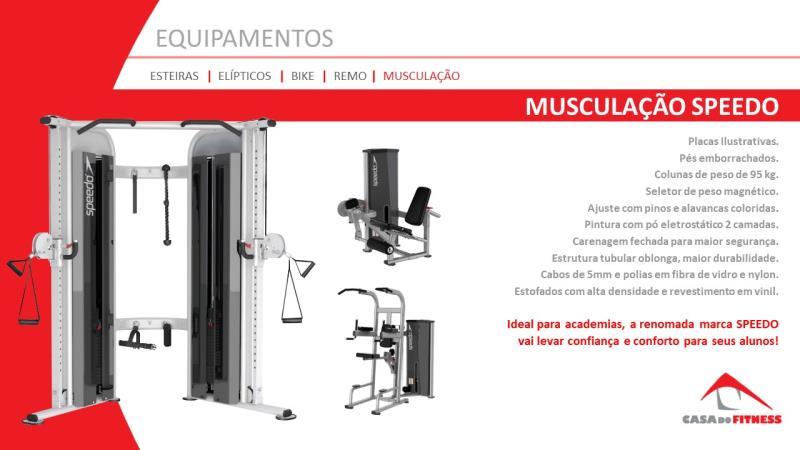Foto - A nova linha de força Speedo Fitness traz um novo conceito para as academias brasileiras.