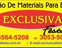 Logo da empresa Exclusiva Festas Locações de Materiais Para Eventos