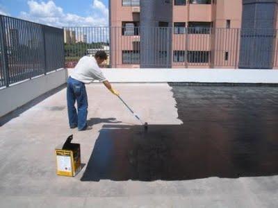 Foto - Impermeabilização com Manta Líquida