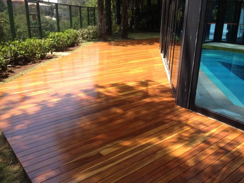 Foto - deck em madeira cumaru NOVO