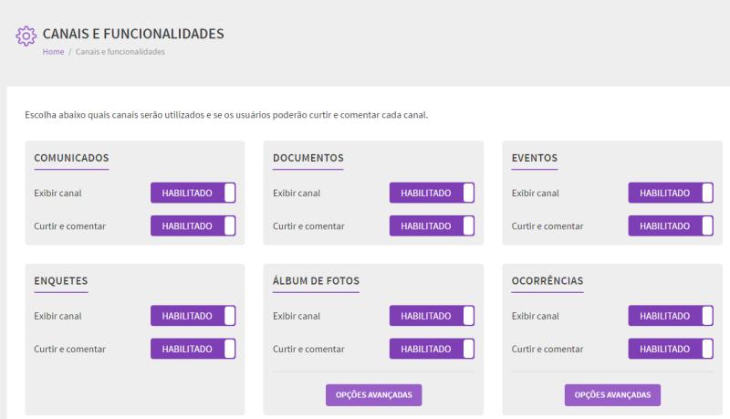 Foto - Visualização canal CANAIS E FUNCIONALIDADES