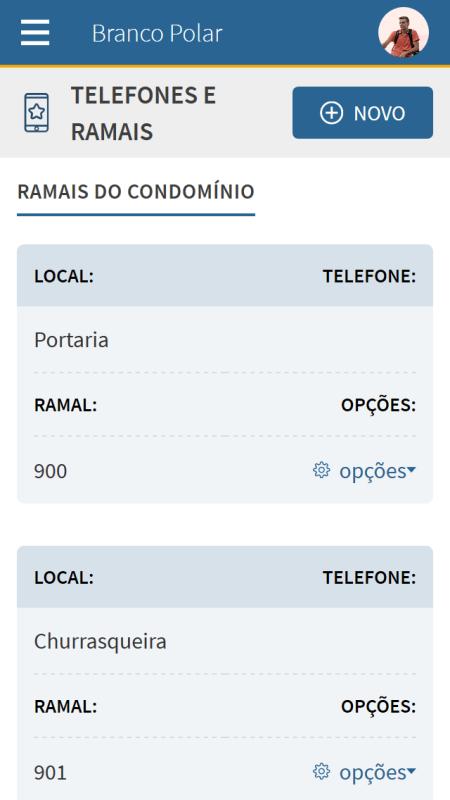 Foto - Visualização canal TELEFONES E RAMAIS