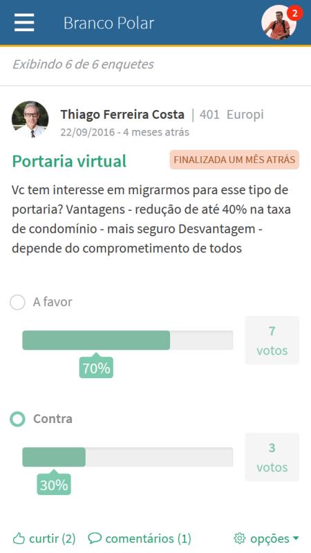Foto - Visualização canal ENQUETES