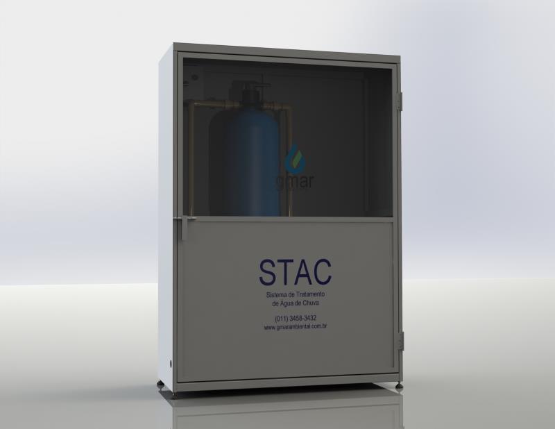 Foto - A fim de viabilizar o reuso de águas pluviais em condomínios, estamos apresentando nossa STAC (Sistema de Tratamento de Água de Chuva).