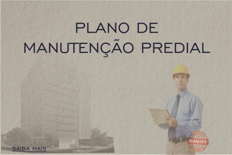 Foto - PLANOS DE MANUTENÇÃO CONFORME ABNT NBR 5674