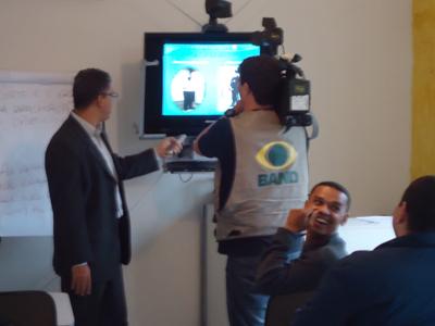 Foto - Entrevista Para emissora Band