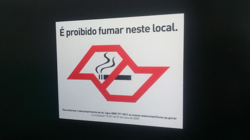 Foto - Placa Anti fumo