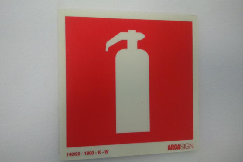 Foto - Placa de Extintor
