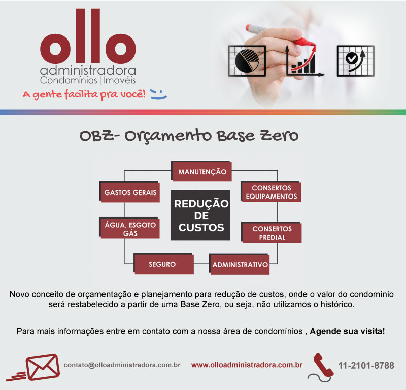 Foto - A OllO apresenta a OBZ - Orçamento Base Zero