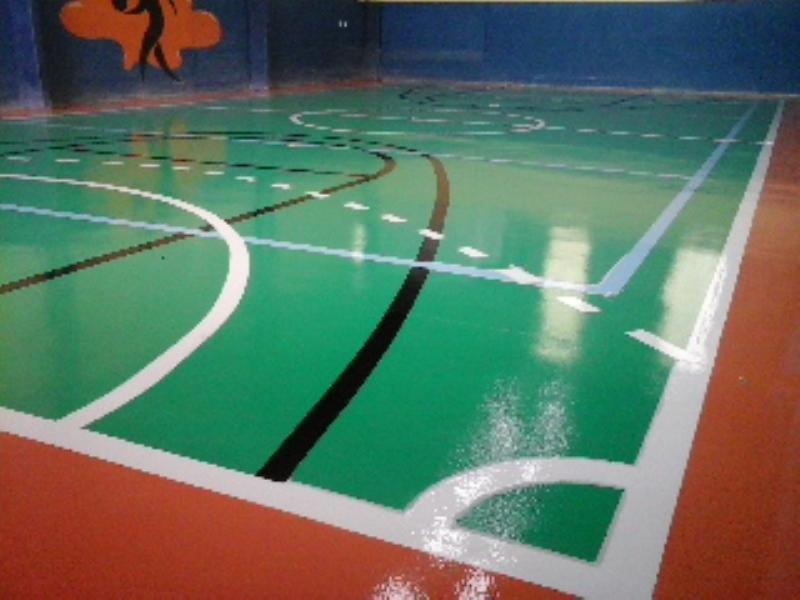 Foto - Quadra Poliesportiva - construção, reforma, pintura