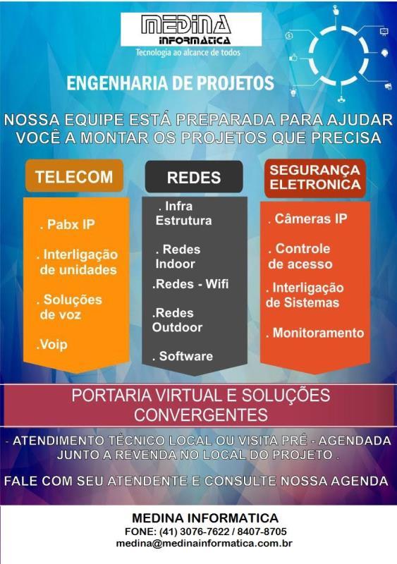 Foto - Engenharia de Sistemas, CFTV, Controle de Acesso e Interfonia.