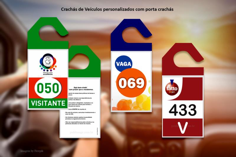 Foto - Crachás veiculares personalizados e numerados