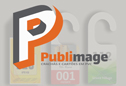 Logo da empresa Publimage Crachás e Cartões em PVC