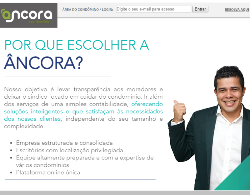Foto - Ancora Administradora de Condomínios, com filiais em Brasília, Noroeste e Goiânia.