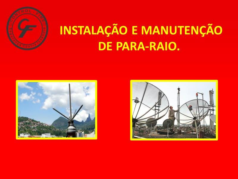 Foto - Especialidades - Instalação e Manutenção de Para Raio