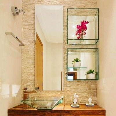 Foto - Nichos de vidro para Banheiro