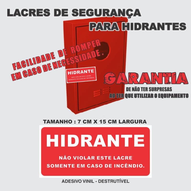 Foto - Lacre Adesivo DestrutívelModelo: HIDRANTE - Não Violar este Lacre - Somente em caso de Emergência