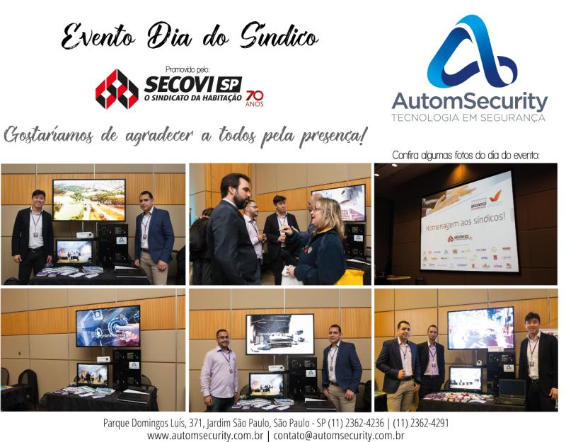 Foto - Evento comemorativo do dia do síndico, realizado pela AutomSecurity em conjunto com o Secovi-SP