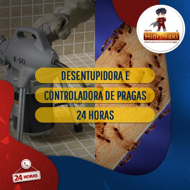 Foto - Desentupidora e controladora de pragas 24 Horas, prestando os serviços de desentupimento com eficácia e controle de pragas para o extermínio e desinfecção dos ambientes.