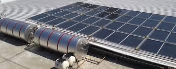 Foto - Aquecedor de água solar.