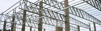 Foto - Obras e construções com estrutura metálica.