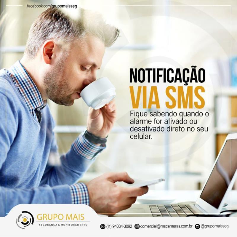 Foto - NOTIFICAÇÃO DE ALARME VIA SMS