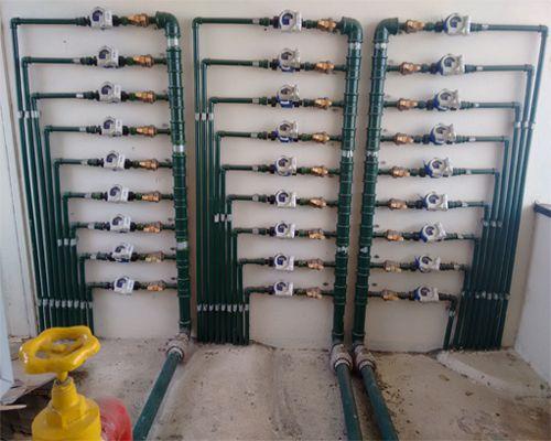 Foto - Individualização de hidrômetros.