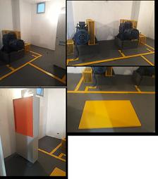 Foto - Pintura da casa de máquinas de nossos clientes com as devidas demarcações