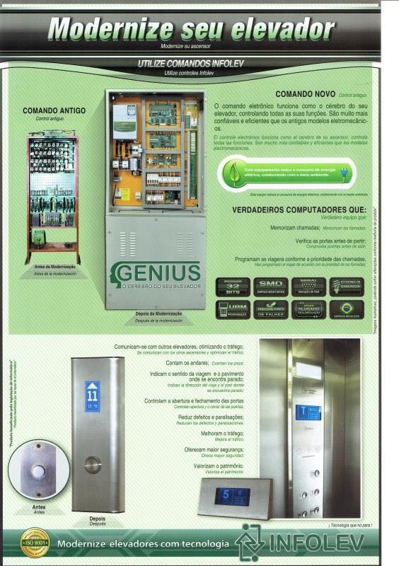 Foto - Modernização Tecnológica - Elevadores