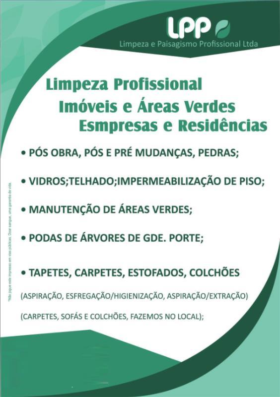 Foto - LPP - Limpeza e Paisagismo Profissional